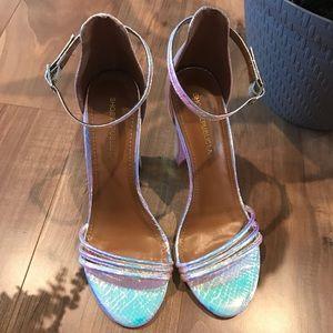 Iridescent heels NWOT